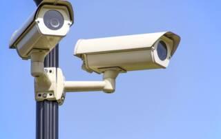 Mass surveillance cameras on the street