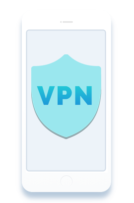 iPhone device on iOS using VPN for security and protection