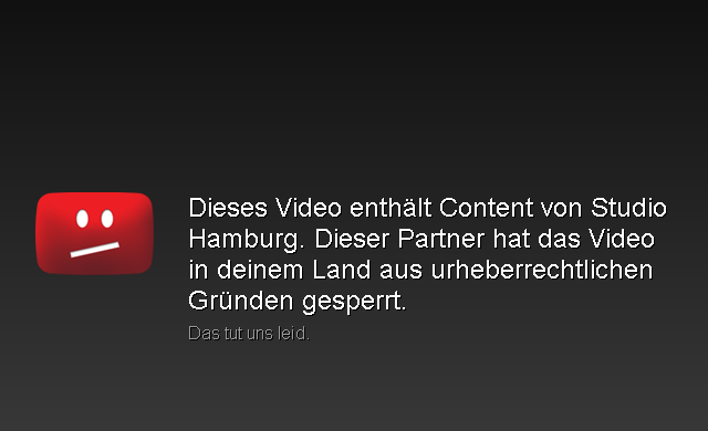 Youtube video blocked in Germany
