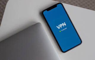 iPhone protected with VPN service