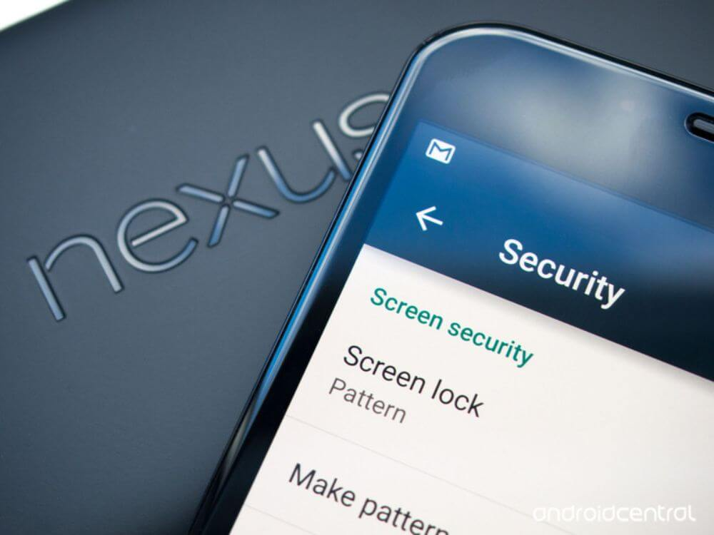 Android phone security screen lock settings