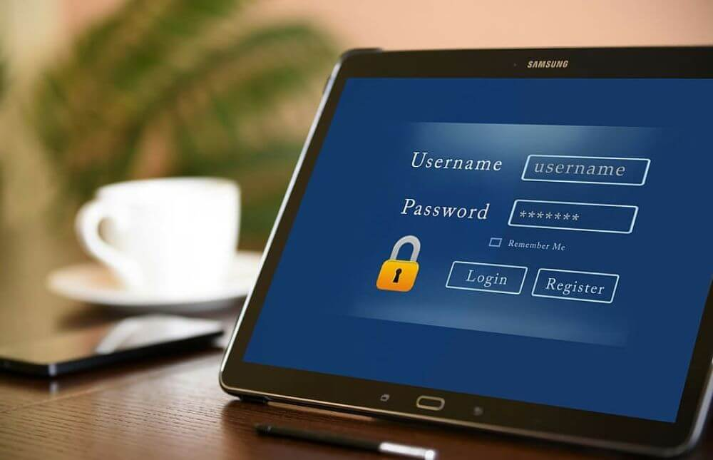 password protection on a laptop, app for saving passwords