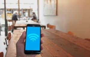 public wifi in a cafe, online security and privacy